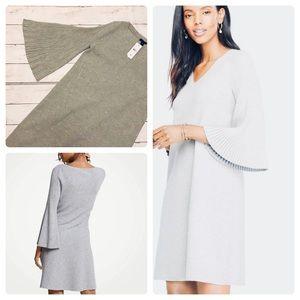 Pleated sleeve Ann Taylor dress